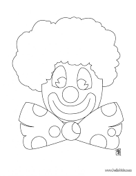 coloring pages of scary clowns printable clown coloring pages circus for preschool page