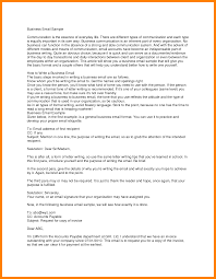 Form For A Business Letter by 9 Sample Of A Business Email Resume Emails