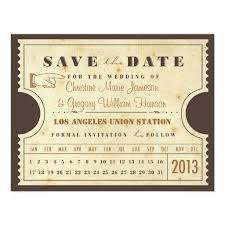 save the date invitation punch card ticket save the date invitation card