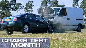 crash test month van vs car youtube