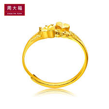golden gold rings images Chow tai fook jewellery double heart golden gold rings price f156901 jpg