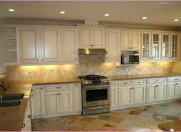 Distressed Kitchen Cabinets Mediterranean Kitchen With Distressed Cabinets And White Cabinet