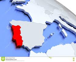 Portugal World Map by Portugal On World Map Stock Illustration Image 78579312