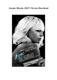 atomic blonde 2017 movies download in hd