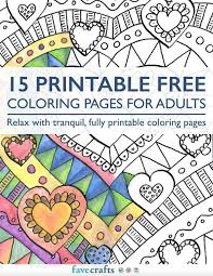 15 printable free coloring pages adults pdf favecrafts