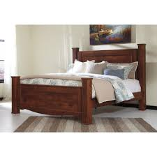 Ashley Furniture Mattress Ashley Furniture Brittberg King Poster Bed In Reddish Brown
