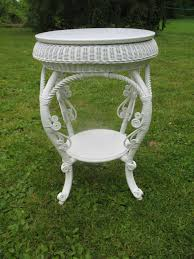 antique round victorian wicker table circa 1890 u0027s from dovetail on