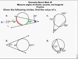 Segment Lengths In Circles Worksheet Answers Geometry Circles Chords Secants Tangents Measures Angles
