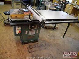 Shopmaster Table Saw Iron Horse Auction Auction 66 U0027 Mustang Jd Tractor Concrete