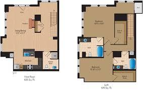floor plans of the gramercy in arlington va 2 bedroom loft 2 bath floor plan 7