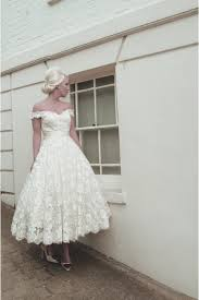 Champagne Wedding Dresses House Of Mooshki Maeve Tea Length Lace Vintage Champagne Wedding Dress