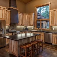 Wood Cabinet Kitchen Kitchen Modern Kitchen Hickory Cabinets Subway Tile Backsplash