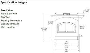 quadrafire 7100 zero clearance high efficiency epa wood fireplace
