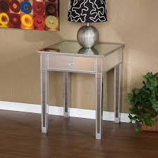 Target Mirrored Console Table by Mirrored Accent Table Faceted Mirror Side Table Decoration In