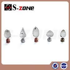 szone curtain accessory elegant crystal glass finials for iron
