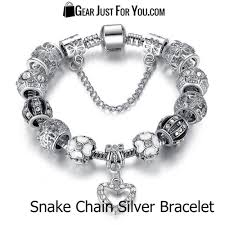 charm bracelet chain silver images Authentic 925 silver heart charm bracelet gear just for you jpg