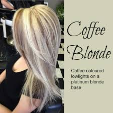 hi and low lights on layered hair coffee blonde hair color idea coffee colored lowlights on a