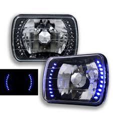 jeep wrangler blue headlights jeep wrangler 1987 1995 blue led black sealed beam headlight