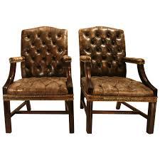 Vintage Leather Chairs Viyet Designer Furniture Seating Vintage Leather Button