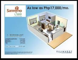 San Remo Floor Plans Condominium Unit Available At Sanremo Oasis At City Di Mare Srp