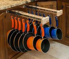 Best Kitchen Pots  Pans Organization Images On Pinterest - Kitchen cabinet shelving ideas