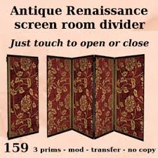 Tri Fold Room Divider Screens Second Marketplace B B Box Antique Renaissance Tri Fold