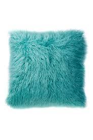Faux Fur Throw Pillow Flokati Faux Fur Throw Pillow Everything Turquoise
