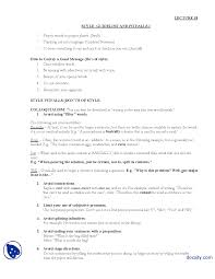 style journalistic writing lecture handout docsity