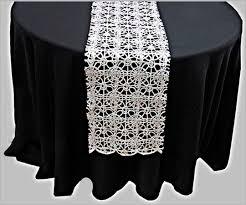 white and silver table runner metallic braid table runner jif linens