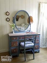 vintage vanity with french country cottage style french country