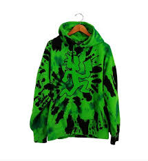 green custom dyed hatchetman hoodie available this weekend only