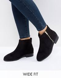 womens ankle boots size 12 wide wide fit shoes asos