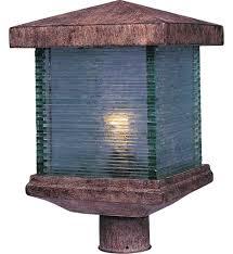 Patio Pillar Lights Outside Pillar Lights Light Post Base 3 Light L Post Fence Post