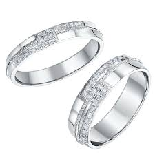 his and hers rings his hers palladium wedding bands and matching ring sets