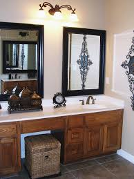 bathroom mirrors ideas black rectangle tall wooden bathroom frame