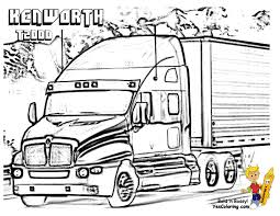 big rig truck coloring pages free 18 wheeler boys coloring