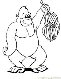 monkey coloring 03 coloring free gorilla coloring