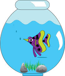 empty fish bowl coloring page clipart image 33906