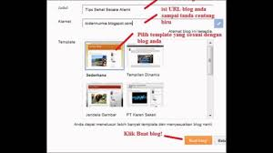 cara membuat blog yang gratis cara bikin blog gratis di blogger com youtube