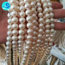 round freshwater pearl necklace images Gorgeous freshwater pearls loose strands 9 10mm off round shape jpg