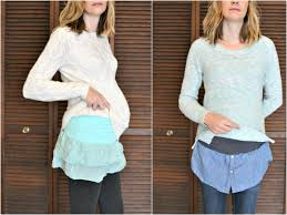 belly bands tutorial belly bands with shirt hems diy maternity