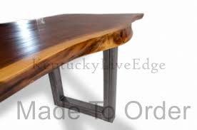 Wooden Boardroom Table Made To Order Dining Table Conference Table Live Edge Modern