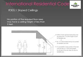 Slope Ceiling by How Low Can You Go Ceiling Heights In The Building Code