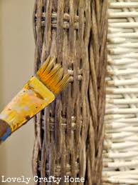 rachael and restoration grey washed wicker diy painting on all