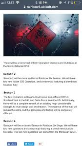 ubisoft announces year 3 rainbow has announced the year 3 plans on their website rainbow6