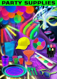 party goods blacklight party confetti table setting blacklight party stuff