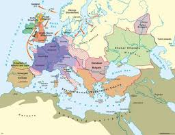 map of euorpe maps europe at the end of charlemagne s circa 814