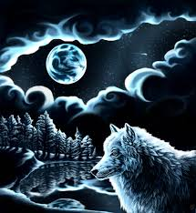 wolf moon by pup on deviantart