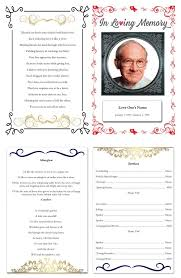 templates for funeral program beautiful free printable funeral program template downloadtarget