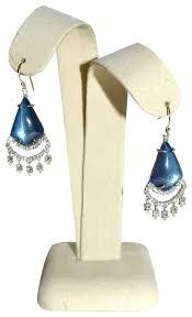 dangler earrings bittar blue velvet lucite chandelier dangler earrings tradesy